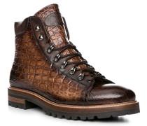 Schuhe Schnürstiefeletten, Leder, testa di moro