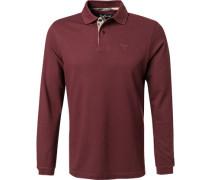 Polo-Shirt Polo Baumwoll-Pique bordeaux