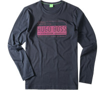 T-Shirt Longsleeve Baumwolle marine