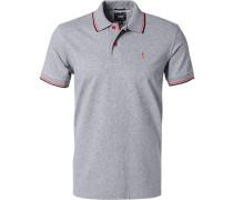 Polo-Shirt Baumwoll-Piqué meliert