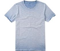 Herren T-Shirt Baumwolle hellblau meliert