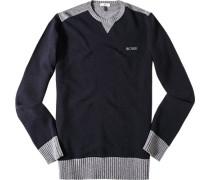 Pullover Schurwolle marineblau