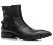 Herren Schuhe Stiefeletten Kalbleder schwarz