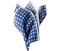 Accessoires Einstecktuch Kaschmir marineblau-weiß gepunktet