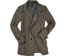 Mantel Baumwolle halbgefüttert khaki ,grau
