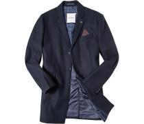 Herren Mantel Anorak Woll-Mix navy blau,blau