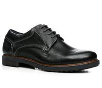 Herren Schnürschuhe Leder schwarz schwarz,blau