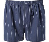 Herren Unterwäsche Boxershorts Baumwolle blau weiß gestreift