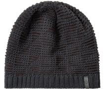 Mütze Wolle -braun gemustert