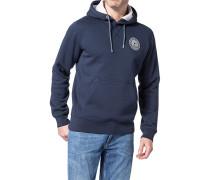 Kapuzen-Sweatshirt Baumwolle dunkelblau