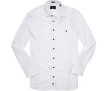 Hemd, Modern Fit, Oxford, -rot gemustert