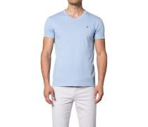T-Shirt Fitted Body Baumwolle hellblau