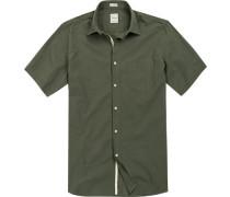 Hemd Modern Fit Baumwolle khaki