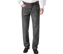 Herren Jeans Kid Baumwoll-Stretch 7,5 oz anthrazit grau