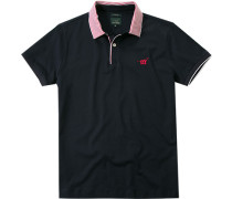 Polo-Shirt Polo Slim Fit Baumwoll-Jersey navy