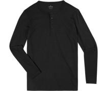 T-Shirt Longsleeve, Body Fit, Pima Baumwolle,