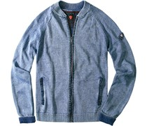Herren  Cardigan Lester-J Baumwolle jeansblau