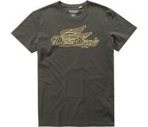 Herren T-Shirt Baumwolle schwarzbraun braun,schwarz