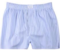 Herren Unterwäsche Boxershorts Baumwolle hellblau-weiß gestreift