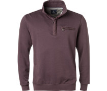 Pullover Troyer Baumwolle mauve