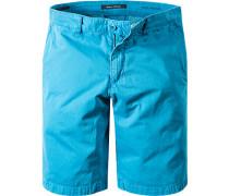 Hose Shorts Regular Fit Baumwolle türkis