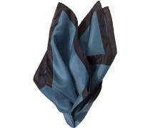 Herren Accessoires  Einstecktuch Seide nachtblau-mittelblau gemustert
