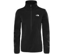 Tanken 1/4 Zip Fleece Pullover schwarz