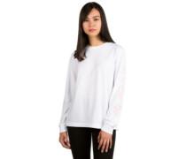Blossom Script T-Shirt LS white