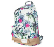 Palms Away Dome Backpack white