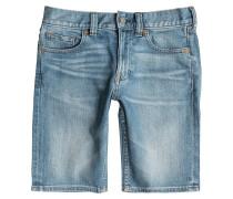 Washed Straight Shorts