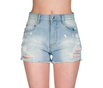 Crowd Surf Denim Shorts crystal blue