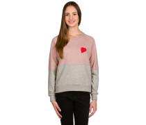 Hybrid Crew Neck Sweater pink