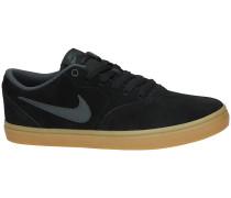 SB Check Solarsoft Skateschuhe schwarz