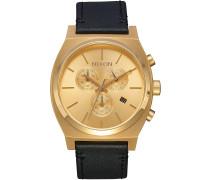 The Time Teller Chrono Leather Uhr braun