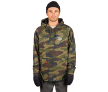 Waterproof Shred Hoodie dark camo