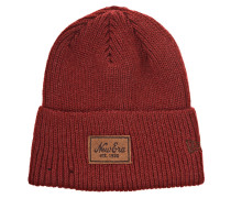 Patched Wool Beanie rot