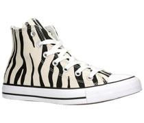 Chuck Taylor All Star Canvas Zebra HI Sneakers white