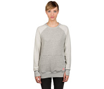 Soda Crew Fleece Pullover grau