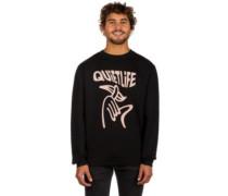 Shhh Wavey Crew Neck Sweater black