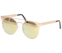 The In Crowd Gold Sonnenbrille gelb