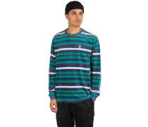 Unveil Stripe Velour Sweater quetzal green