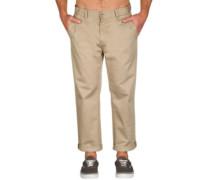 Klassic Cropped Chino Pants dark khaki