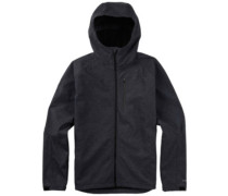 Process Fleece Jacket true black heather
