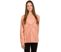 Plaited Crew Sweater pink