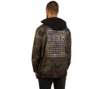 Locker Grid Hood Coaches Jacket camoflauge