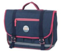 Solid Satchel Backpack dark blue