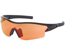 Leap Black Glossy Sonnenbrille schwarz