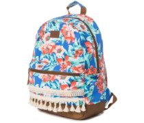 Mia Flores Dome Backpack blue
