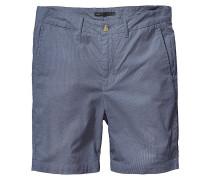 Goodstock Yarn Dye Chino Shorts blau