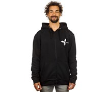 Skull Hooded Zipper schwarz